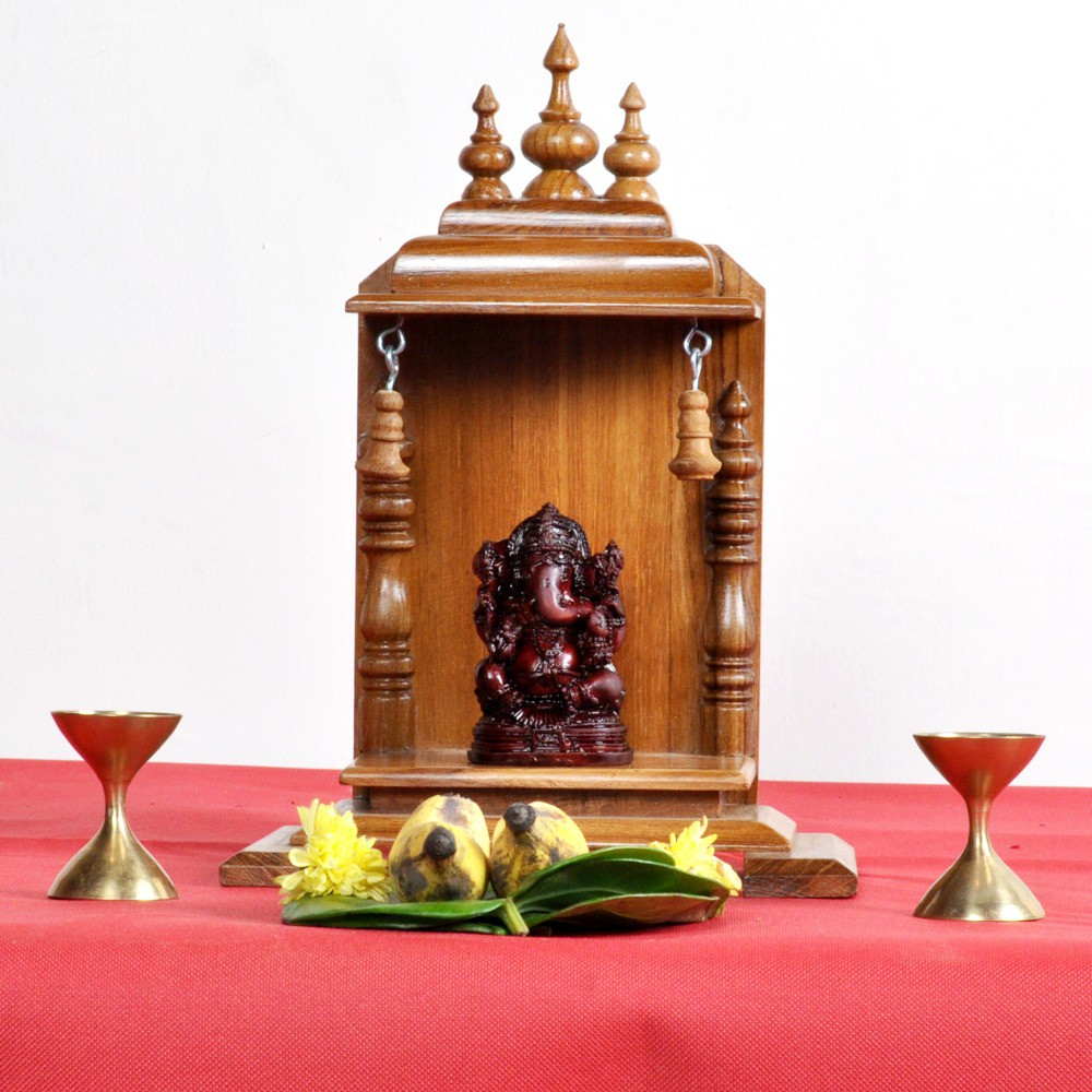 View Designer Lanes Wooden Home Temple(Height: 25 cm) Furniture (Designer Lanes)