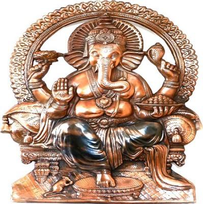 IndiaDeals4u Maharaja Ganesh(1Nos) Aluminium Home Temple