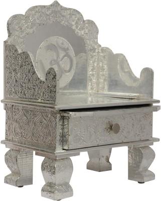 Pavitra Mandir 12 x 7 Aluminium Singhasan with Tray & Drawer Wooden, Aluminium Home Temple