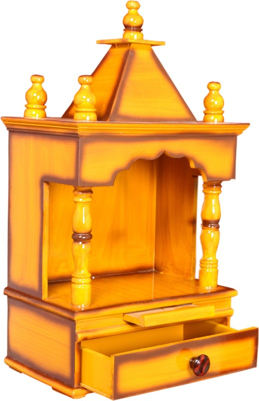 M K Enterprises Wooden Home Temple(Height: 60 cm)