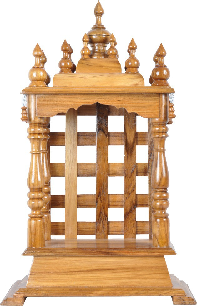 Temple With Double Drawer 8895 Pooja Mantap Painted Furniture