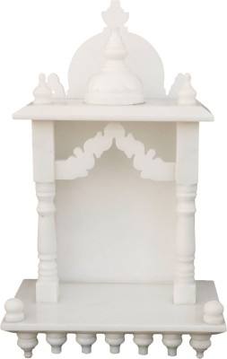 eShilp Home Temple Pooja Mandir small size 15 inches Marble Home Temple(Height: 38 cm)