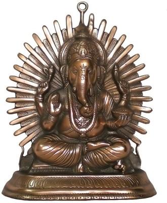 IndiaDeals4u Laddu Ganesh(1Nos) Aluminium Home Temple
