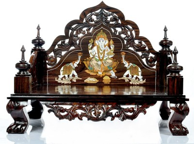 Designer Lanes Premium Wooden Home Temple(Height: 40.7 cm)