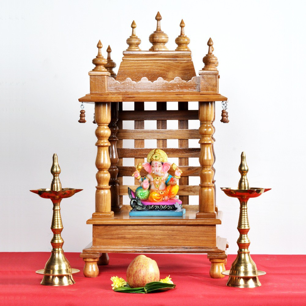 View Designer Lanes Wooden Home Temple(Height: 61 cm) Furniture (Designer Lanes)