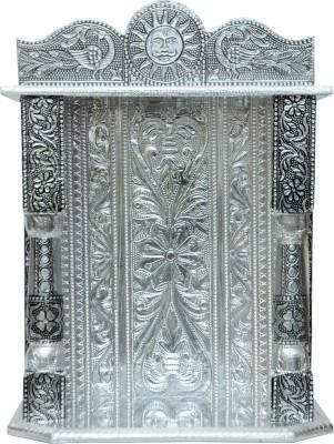 Pavitra Mandir 11 x 5 Small Oxidize Carving Temple Wooden, Aluminium Home Temple