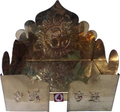 Swadesibuyzzar Singhasan for God Idols 16x11.5x15.5 cm Brass Home Temple(Height: 15.5 cm)