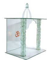 U S Exports Puja Mandir Glass Home Temple(Height: 56 cm)