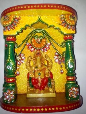 Netra Handicraft Wooden Home Temple(Height: 20 cm)