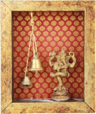 Adaa Natya Ganesh with two Bells Brass Home Temple