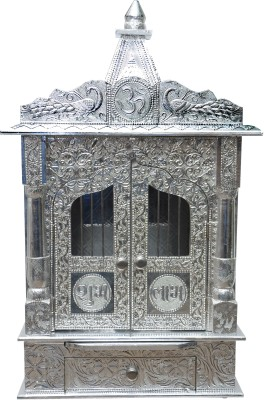 Pavitra Mandir 15 x 9 Door WG Full Aluminium Carving Wooden, Aluminium Home Temple