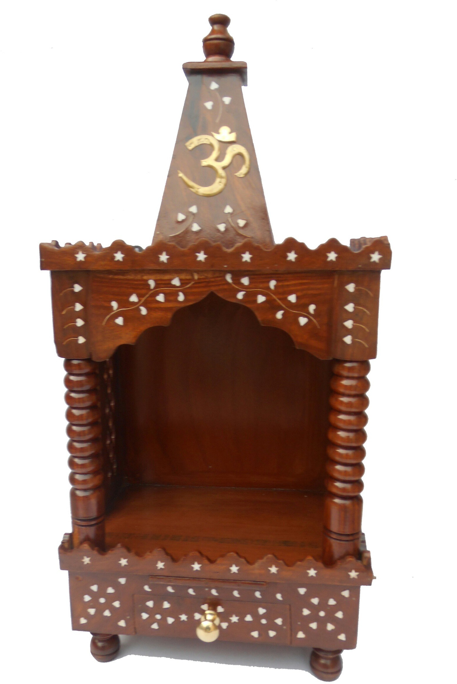 View Handicraft SHEESHAM WOOD MADE TEMPLE WITH DRAWER IN IT HEIGHT-70CM Wooden Home Temple(Height: 70 cm) Furniture (Handicraft)