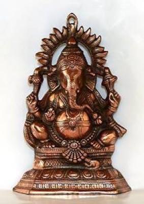 IndiaDeals4u Chakra Ganesh Plate(1Nos) Aluminium Home Temple