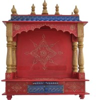 Jordaar Wooden Home Temple(Height: 74 Cm)