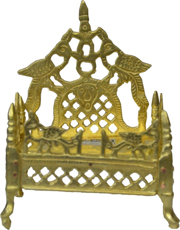 Swadesibuyzzar Puja Singhasan 9x6x11 cm Brass Home Temple(Height: 11 cm)