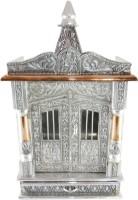 GoldGiftIdeas Wooden Aluminium Premium Mandir Copper, Aluminium, Wooden Home Temple