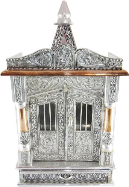 View GoldGiftIdeas Wooden Aluminium Premium Mandir Copper, Aluminium, Wooden Home Temple(Height: 54 cm) Furniture (GoldGiftIdeas)