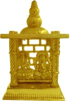 Heaven Decor Gold Plated Laxmi Ganesh Small Iron Home Temple(Height: 11 cm)