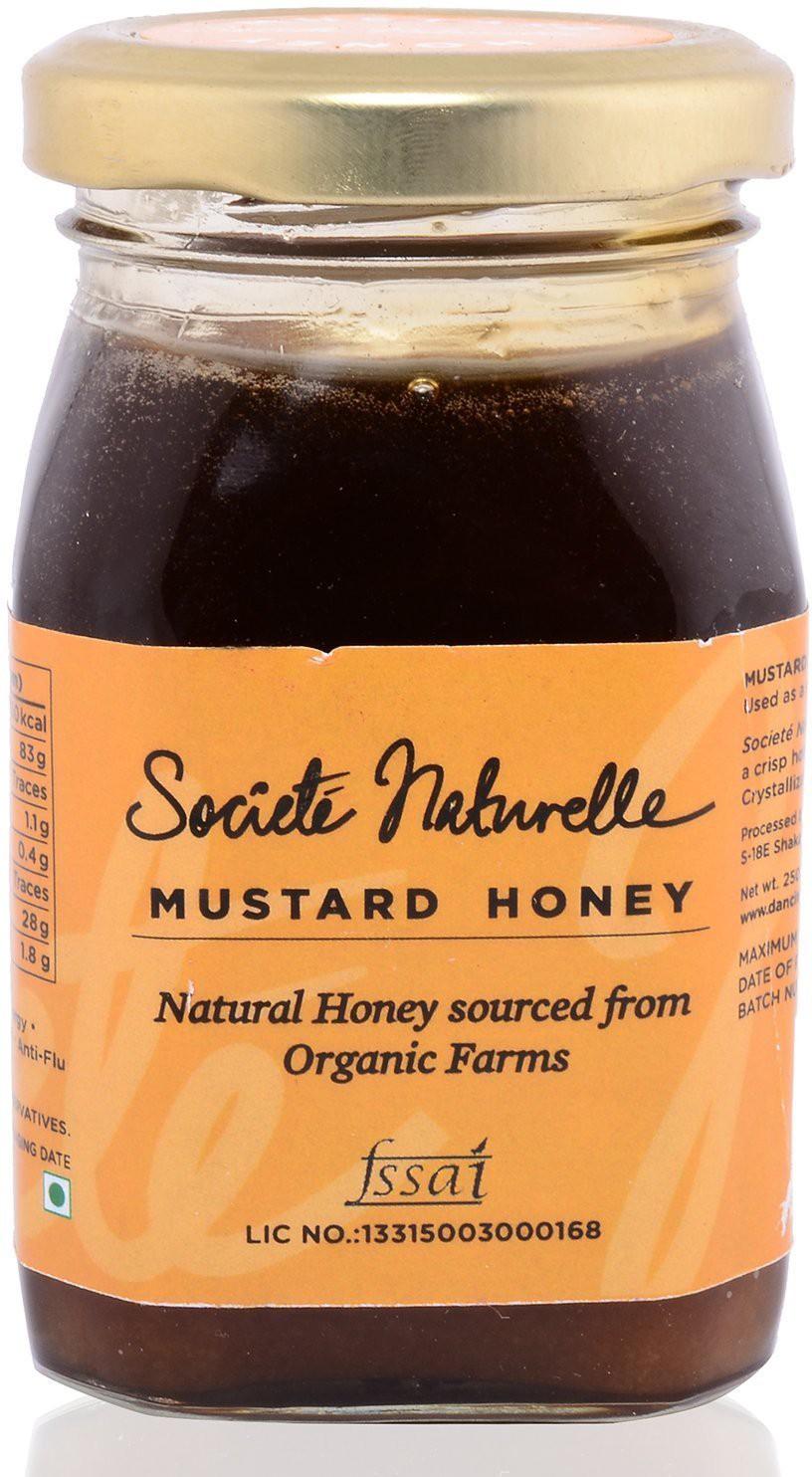 Societe Naturelle ORGANIC- NATURAL MUSTARD Flavored Filtered Honey