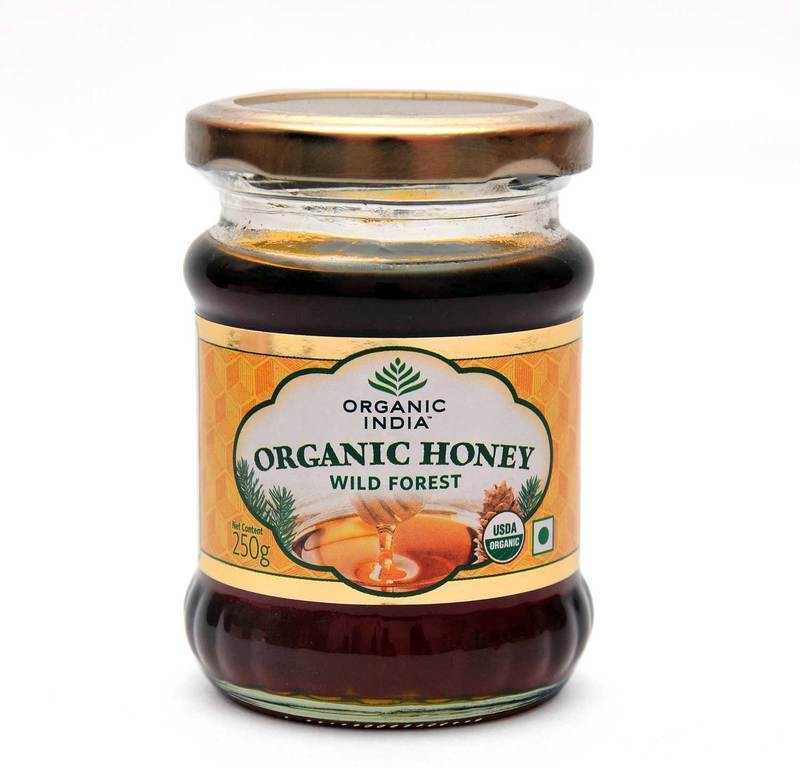 Organic India Pure Wild Forest Organic Raw Honey(250 g, Pack of 1)