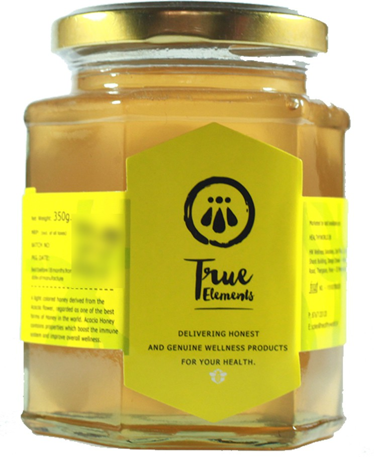 True Elements Natural Sweetner Acacia Squeeze Strained Honey