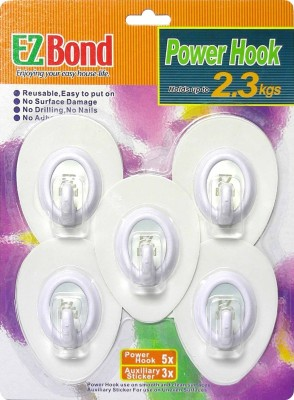 EZBond 1 - Pronged Hook(White Pack of 5)