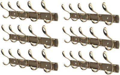 Dolphy Set Of 6 Towel Clothes Wall Hanger 5 - Pronged Hook