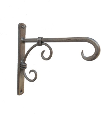 Indune Lifestyle Iron Wall Bracket Antique Silver 1 - Pronged Hook
