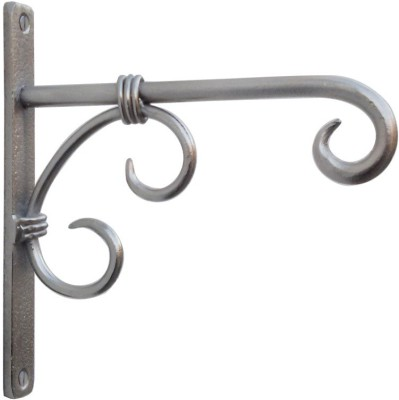 Indune Lifestyle Iron Wall Bracket Antique Silver 1 - Pronged Hook(Silver Pack of 1) at flipkart