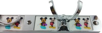DOCOSS Cartoon Design Brass 4 Pin Bathroom Wall Hook Stand For Kids 4 - Pronged Hook Rail