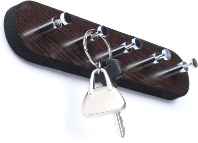 Regis Wall Mounted Key Rack Hooks - Skywood Wenge Small 5 - Pronged Key Holder