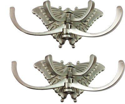 DOCOSS Pack Of 2-Big Butterfly 4 Pin Cloth Hooks 4 - Pronged Hook