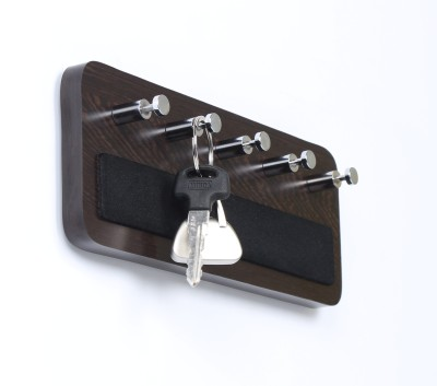 Regis Wall Mounted Key Rack Hooks - Skywood Wenge Big 5 - Pronged Key Holder