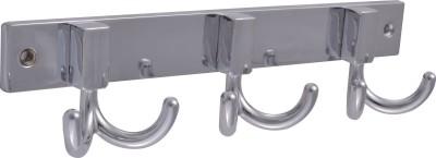 Klaxon Double-3P Brass Chrome Plated 3 - Pronged Hook Rail