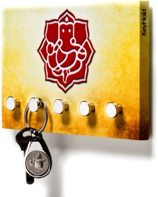 Regis Hold - Wall Key Holder,Rack (Vivid Ganesha) 5 - Pronged