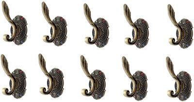 Dolphy Set Of 10 Towel Clothes Wall Hanger 1 - Pronged Hook