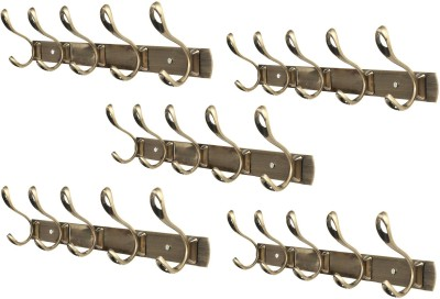 Dolphy Set Of 5 Towel Clothes Wall Hanger 5 - Pronged Hook