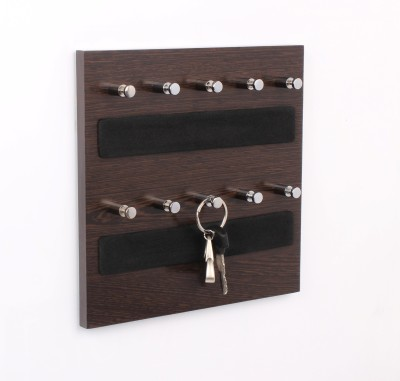 Regis Wall Mounted Box - Skywood Wenge Small 10 - Pronged Key Holder