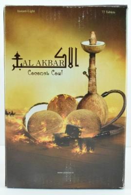 Al Akbar Hookah Charcoals(Pack of 72)