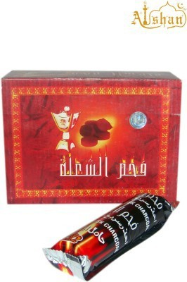 alshan hamil al musk Hookah Charcoals(Pack of 10)
