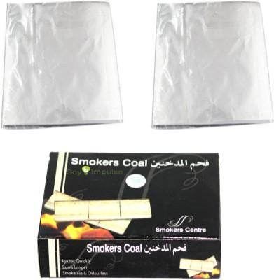 Soy Impulse Smoker Coal Box With 2 Pack Hookah Foil Hookah Charcoals