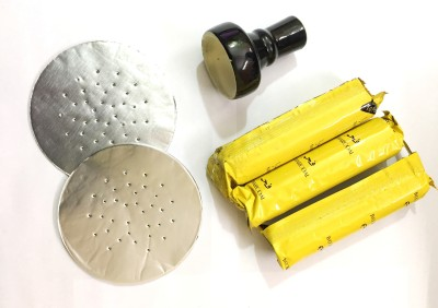 Soy Impulse 2pcs Prepunchured Foil Paper 3pcs Al Yellow Coal & Chillam Hookah Charcoals(Pack of 6)
