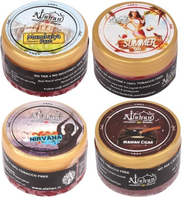 Alshan Gel 4 Bottles Assorted Hookah Flavor(Mumbaiya Paan - 50 g, Nirvana - 50 g, Summer 96 - 50 g, Iranian Cigar - 50 g, Pack of 4)