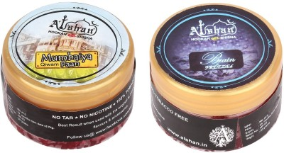 Alshan Gel 2 Bottles Assorted Hookah Flavor(Mumbaiya Paan - 50 g, Brain Freezed - 50 g, Pack of 2)