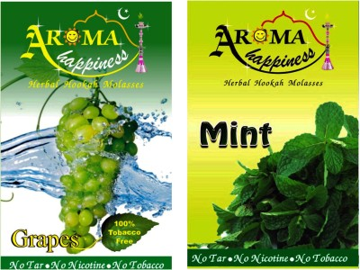 Aroma Happiness Pegs,N,Pipes Grape Mint Hookah Flavor(100 g, Pack of 2)