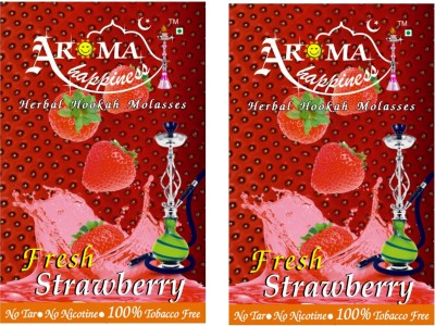 Aroma Happiness Pegs,N,Pipes Strawberry Hookah Flavor(100 g, Pack of 2)