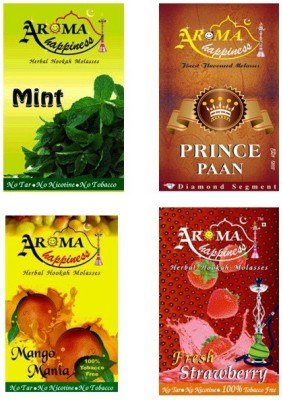 Aroma Happiness Pegs,N,Pipes Assorted Hookah Flavor(Total - 200 g, Pack of 4)