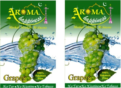 Aroma Happiness Pegs,N,Pipes Grape Hookah Flavor(100 g, Pack of 2)