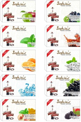 Sophies Shisha Assorted Hookah Flavor 10   500 g, Pack of 10  available at Flipkart for Rs.775