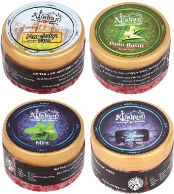 Alshan Gel 4 Bottles Assorted Hookah Flavor(Paan Rasili - 50 g, Mumbaiya Paan - 50 g, Mint - 50 g, Brain Freezed - 50 g, Pack of 4)